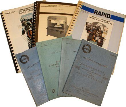 Kataloge für DVSG/BUSM/USM-Maschinen